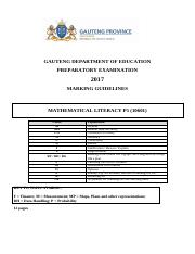 2017] Grade 12 NSC Prep - Mathematical Literacy (First Paper