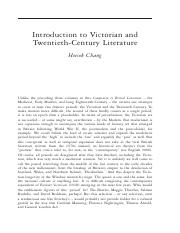Victorian and Twentieth-Century Literature