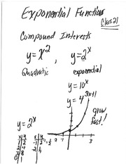 Class 21 Notes (Exponential Functions and Compound Interest)