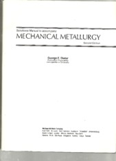 2e_Solutions Manual to Accompany Mechanical Metallurgy