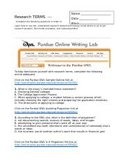 Research Webquest OWL Student