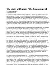 The Study of Death in.docx