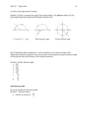 6.4 Reference angles