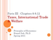 Part III Ch 8-9 12 Taxes, International Trade, and Welfare