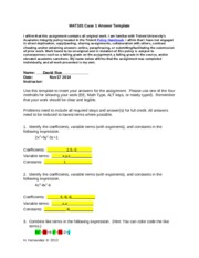 MAT101 Case 1 Answer Template.docx