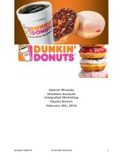 Dunkin' Donuts Situation Analysis.docx