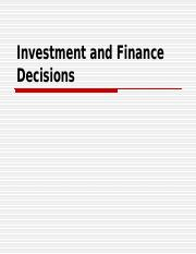 Investment and Financing Decisions (Time Adjusted Methods) (1)