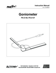 PASCO Goniometer  Manual, Experiments, Solutions