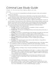 Criminal Law Ch13 Study Guide