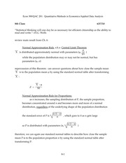 Central Limit Theorem Notes