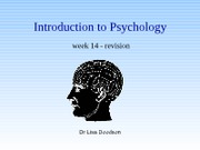 week 14 - revision for into to psychology(1) PPT