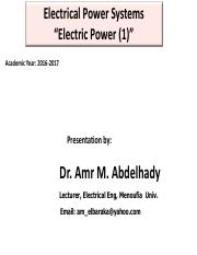 Electrical Power System_ up to lec 7