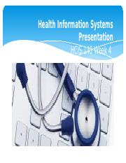 HCIS-140-Week-4-Information Systems Presentation