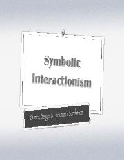 5. Symbolic Interactionism