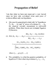 Propagation of Belief notes