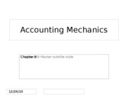 Ch.3 Accounting Mechanics