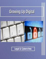 GNED 190-  Week #8 (Legal & Cybercrime).ppt