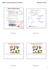 Coordinate Systems Notes