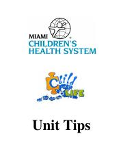 Child Life Unit Tips