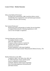 Lecture 10 Notes Medical Education