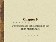 Chapter9_Lecture_Universities_Revival_of_Classical_Antiquity_Scholasticism