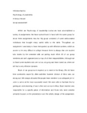 Psych of Leadership - Final Assess Paper