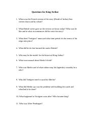 Questions for King Arthur.doc