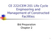 Chapter 2 - Bid Preparation - outline