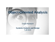 Systems Analysis and Design lecture 28 object orientation analysis