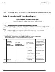 PHIL-002-010-FL16_ Daily Schedule and Essay Due Dates