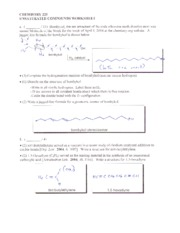 03 Unsaturated Compounds Worksheet Key
