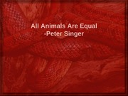 Animal Rights Singer