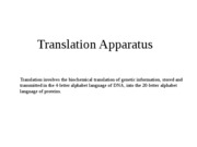 Lecture 8 - translation apparatus