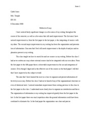 Friendship reflective essay format