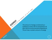 1 - Exergy - The quality of energy