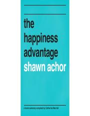 happiness advantage Happiness advantage: the seven principles that fuel success and performance at work [shawn achor] on amazoncom free.