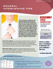 job help - general interviewing tips