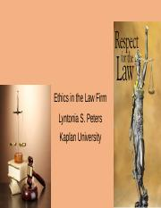 Ethics in the Law Firm