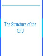 Structure of the CPU.ppt