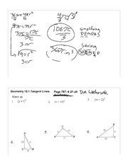 Tangent Lines notes