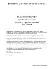 IandF_CT7_201309_ExaminersReport_FINAL_20131218
