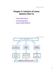 Chapter 3 Solution of Linear Systems (Part 1)