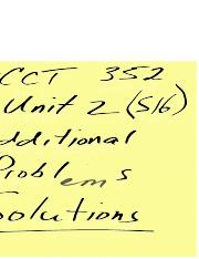 Acct 352-Unit 2-Additional Problem-Solutions (1).doc