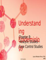 Chapter 8 Analytic Studies -- Case Control Studies