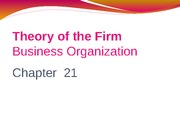 Chapter 21 Production and Business Organization