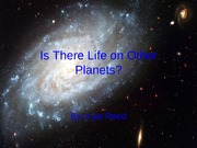 Is There Life on Other Planets
