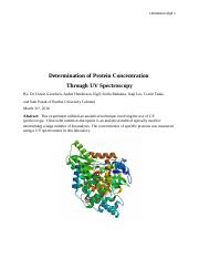 Determination of Protein Concentration.docx