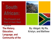 South Africa Presentation