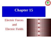 chapter15 Electric Forces and Electric field