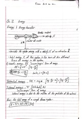 Thermo Notes chap 2 energy